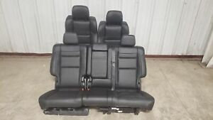 2018 Jeep Grand Cherokee Trackhawk Seats Front Rear Left Right Black Leather Oem