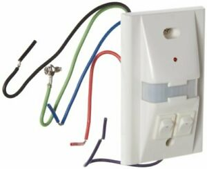 Hubbell Ws1277w2 Passive Infrared Wall Switch 2 Button White 1000sqft Max