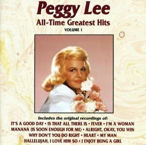 Peggy Lee : All Time Greatest Hits Vocal 1 Disc CD $5.27