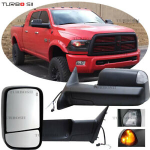 Left Right For 2002 2008 Dodge Ram 1500 2500 3500 Power Heated Black Tow Mirrors