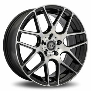 Curva C7 Rim 18x9 5x114 3 Offset 35 Black With Machined Face quantity Of 4