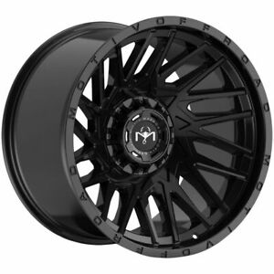Motiv 424b Mutant Rim 20x10 6x135 6x139 7 Offset 25 Gloss Black quantity Of 4