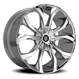 Lexani Lust Rim 24x10 6x135 6x139 7 Offset 30 Chrome quantity Of 4