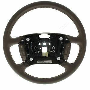 New Gm Oem Very Dark Cashmere Leather Steering Wheel Fits 2006 Cadillac Dts Limo