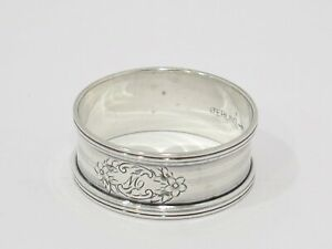 1 7 8 In Sterling Silver Webster Co Antique Striped Napkin Ring