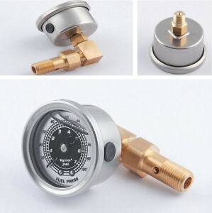 Car Fuel Pressure Liquid Filled Gauge Adapter Kit For Honda Civic Acura Integra