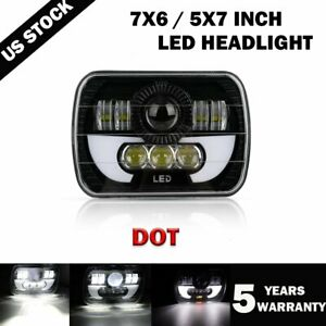 2019 New 5x7 7x6 Inch Rectangle Led Cree Headlight Drl For Toyota Pickup Truck