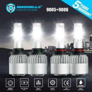4pcs 9006 9005 Cree Led Headlight Bulbs For Honda Accord 90 2012 Civic 2004 2015