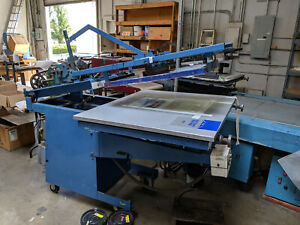 Graphic Screen Printing Press M m Medalist With Vacuum Table Flatbed Press