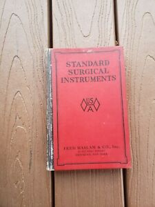 1920 S Illustrated Catalog Standard Surgical Instruments Prosthetics Tools
