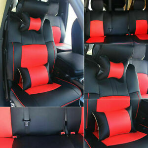 Car Seat Cover For Dodge Ram 1500 2500 3500 2009 18 Leather Full Set Front Rear