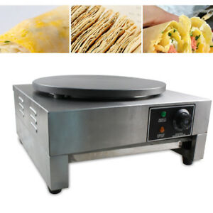 3kw Commercial Pancake Machine Single Head Electric Nonstick Crepe Maker Top