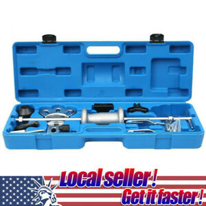 16pc Axle Slide Hammer Dent Panel Puller Set Internal External Use Tool Kit Us