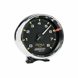 Autometer 2301 Tachometer Auto Gage 0 8000 Rpm 3 3 4 Analog Electrical Each