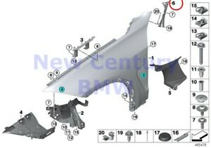 Bmw Genuine Front Side Panel Mounting Parts Reinforcement Right F15 F85