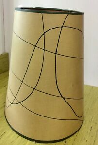 Large Vintage Retro Heavy Paper Oval Lamp Shade Atomic Mid Century Modern