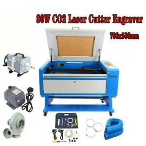 80w Engraver Cutter W Usb Interface Laser Engraving Machine 110v Co2 700x500mm