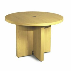 42 Round Conference Table Maple