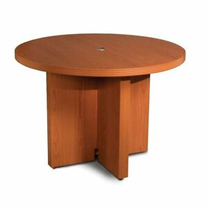 42 Round Conference Table Cherry