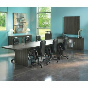 12 Conference Table Boat Surface Gray Steel