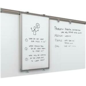 Whiteboard Track System 6 track 1 Hanging Panel 2 Frog Clips 4x6