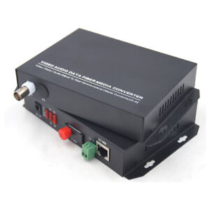 1ch Video Ethernet To Fiber Optic Media Converters Fc transmitter And Receiver