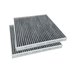 2pcs Cabin Air Filter With Activated Carbon For Hyundai Chevrolet Gmc Kia Saturn