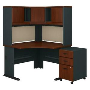 Series A 48w Corner Desk With Hutch And Mobile File Cabinet