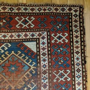 Antique Rug 4 6 X 8 Blue Caucasian Rug