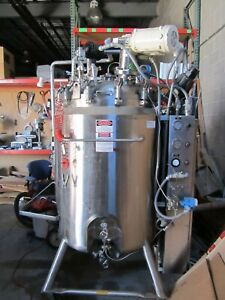 400l Dci Jacketed Stainless Steel Tank With Agitator And Programmable Controller