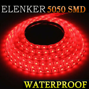 Auto Accent Light Flexible Waterproof Red Led Lighting Strip Rv Smd 300 Leds 5m