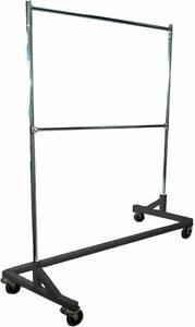 Only Hangers Deluxe Commercial Grade Rolling Z Garment Rack With Nesting Base 4