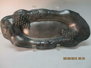 Antique Bread Tray New Amsterdam Silver Co Quadruple Plate 408