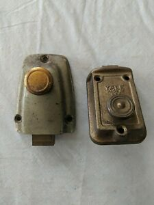 Pair Of Vintage Deadbolt Locks One Is Yale