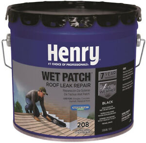 Henry Wet Patch Roof Cement Leak Repair Sealant Shingle Seal 3 30 Gallon 208 New