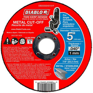 Diablo Angle Grinder Cut Off Disc Metal Cutting Power Tool Thin Kerf 10 Pack Set