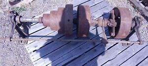 Antique vintage Line Shaft With Clutch Cone flat Pulleys