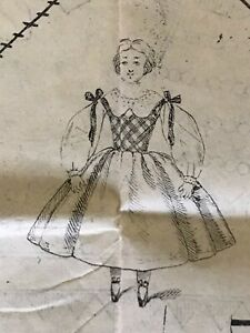 January 1860 Sewing Patterns For Dolls And Ladies Tracings