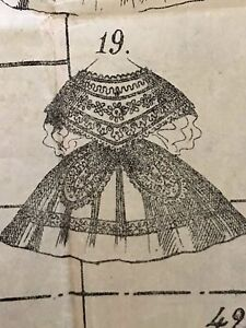 May 1862 Sewing Patterns For Dolls And Ladies Tracings
