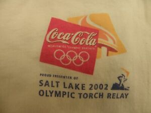 2002 Utah Winter Olympic Games Torch Relay T-Shirt Size Adult XL Coca-Cola