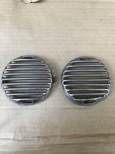 Original Pair 1936 Ford Fender Horn Grill Covers 36 Coupe Fordor Tudor Pickup
