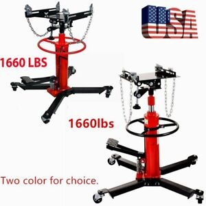A 1660lbs Transmission Jack 2 Stage Hydraulic W 360 For Car Lift Auto Lift