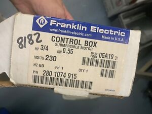 Franklin Electric 3 4hp 230v Qd Control Box Submersible Motor Pump 2801074915