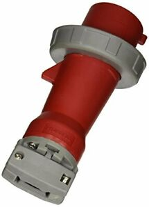Hubbell Hbl430p7w Pin And Sleeve Iec Plug 3 Pole 4 Wire 30 Amp 3 Phase