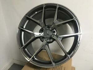 19 Mercedes Benz Amg Y Spoke Style Gunmetal Machined Set Of Four Staggered