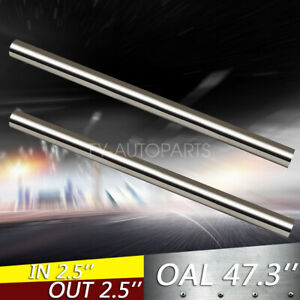 2pcs 2 5 T304 Stainless Steel Straight Exhaust Pipe Tube Piping Tubing 4ft