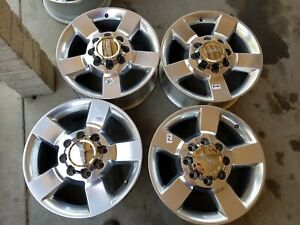 2011 2019 Sierra 2500 Chevy Silverado Denali Oem Wheels Rims Polished Set Of4