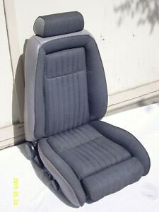 1990 Mustang Gt Front Seat Passenger Side Titanium Gray 1991 1992 90 92