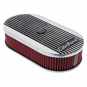 Edelbrock 4273 Elite Series Aluminum Air Cleaner 3 5 Tall