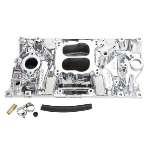 Edelbrock 21164 Intake Manifold For Sbc Chevy W vortec Heads Endurashine